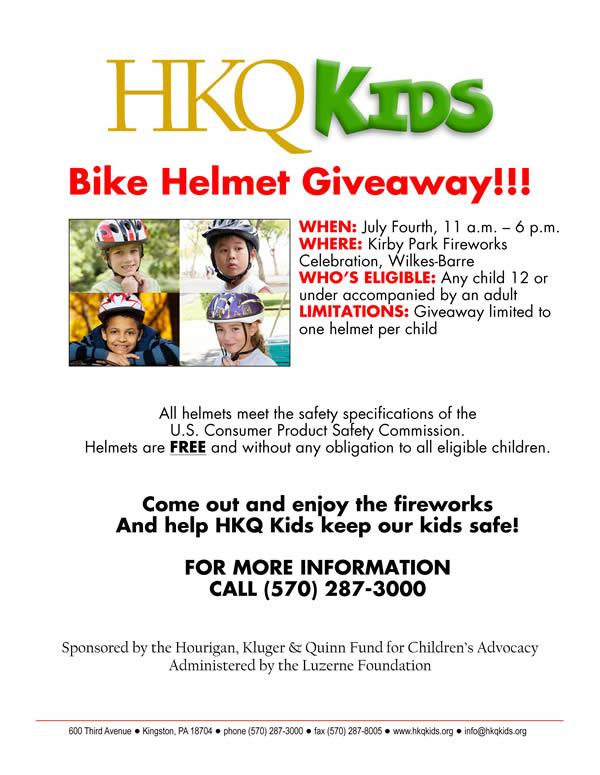 Bike Helmet Giveaway Poster-600x775