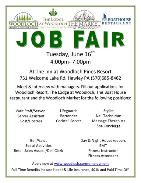 Woodloch - 2015 Job Fair-Open House public June