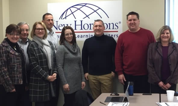 Left to right:  Lynn Banta, TwinStacks; Jerry Lisman, Lisman Holdings; Tiffany Cross-Luciani, TecBridge; Bob Courtright, Courtright & Associates; Elizabeth Klein, Numberyeard, LLC; Dale Parmenteri, NEPRIC; Shawn Mera, New Horizons Computer Learning Centers; Lisa Sciandra, NBT Bank