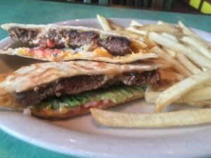 Chevys FreshMex Quesa Burger