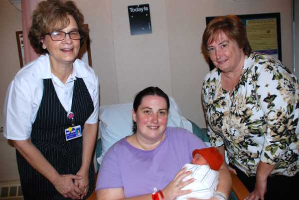 Mary Lloyd; Roseanne Kromko holding baby Summer; Nancy Mead, grandmother