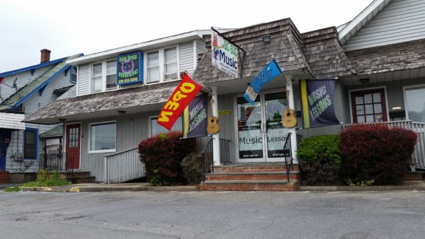 Big Bug Music's store, at 934 N. 9th St. in Stroudsburg, retails and rents instruments, is used for lessons, and is where owner Brendan Fitzpatrick produces music for use in television shows.